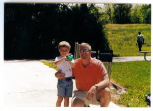 Holden with Mark, age 4
