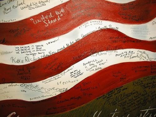 flag signed